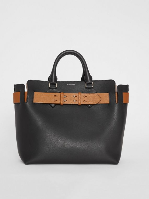 Sac The Belt moyen en cuir (Noir)