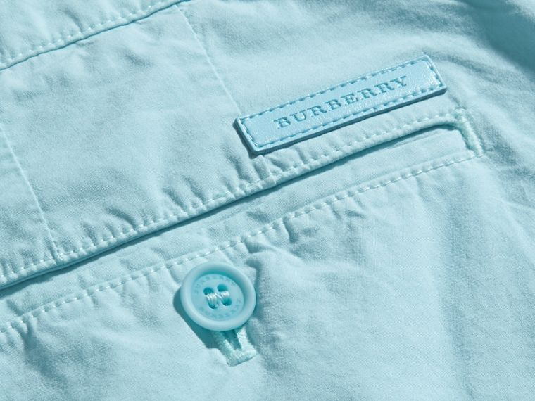 Pearl blue Cotton Poplin Chino Shorts Pearl Blue - cell image 1