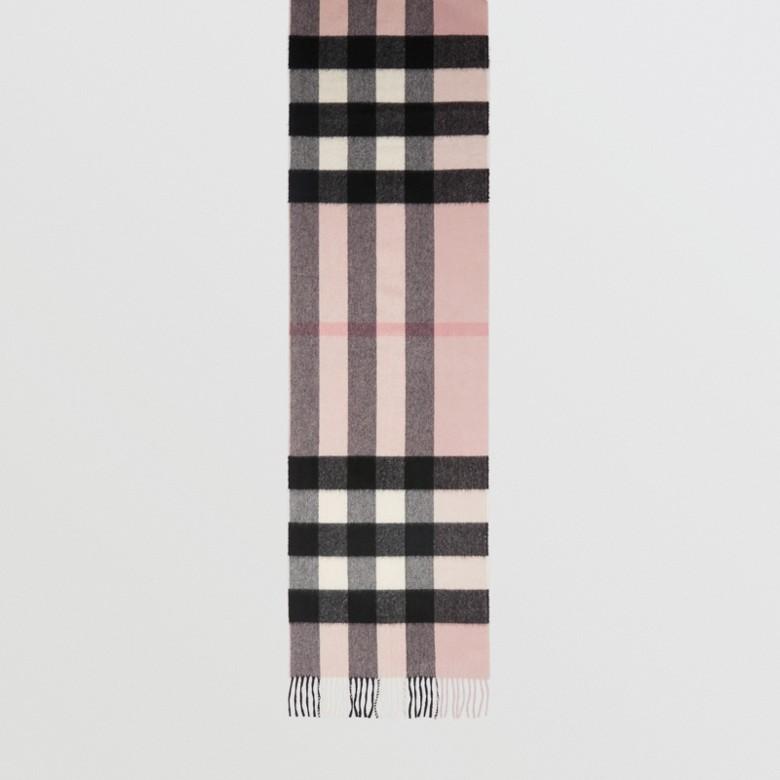 Burberry - Grande écharpe classique en cachemire à motif check - 5