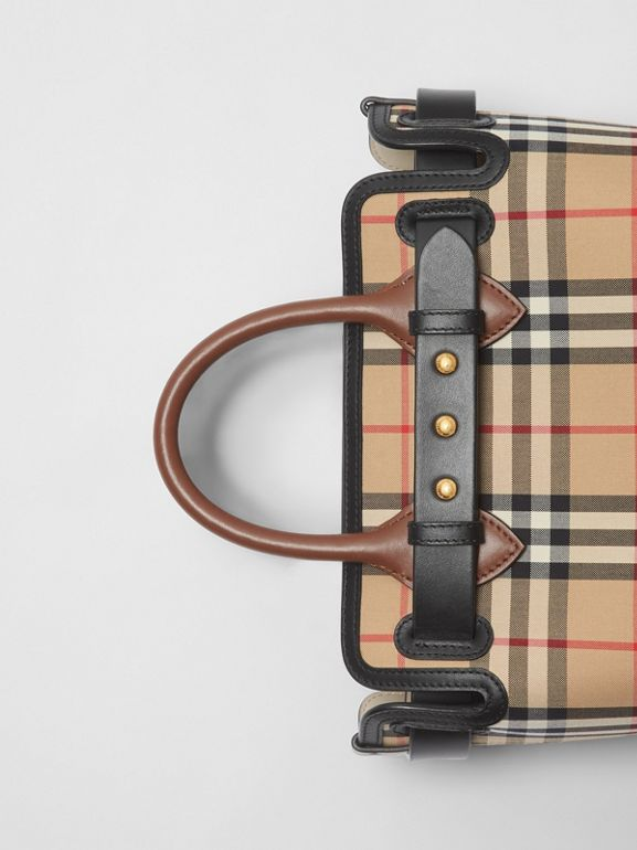 The Mini Vintage Check Triple Stud Belt Bag in Archive Beige - Women | Burberry Hong Kong S.A.R - cell image 1