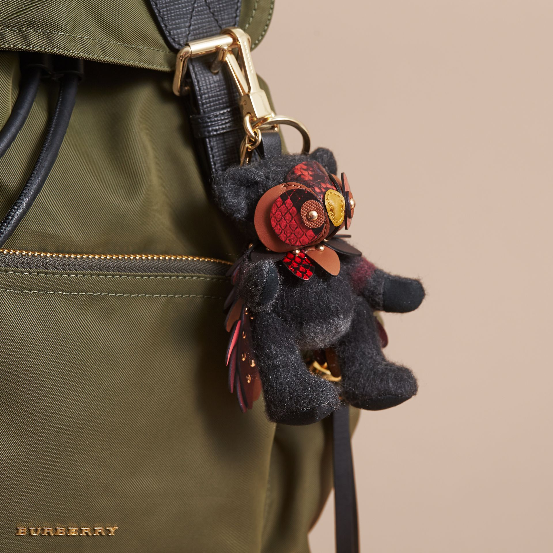 Thomas Bear in Check Cashmere with Beasts Detail - Men | Burberry - gallery image 3