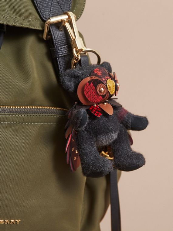 Thomas Bear in Check Cashmere with Beasts Detail - Men | Burberry - cell image 2