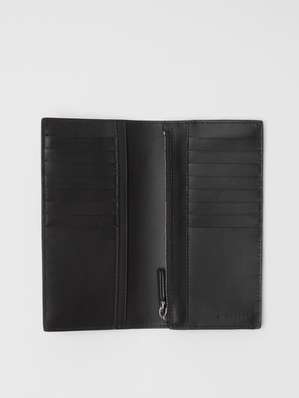 London Leather Continental Wallet in Navy - Men | Burberry United Kingdom - cell image 3
