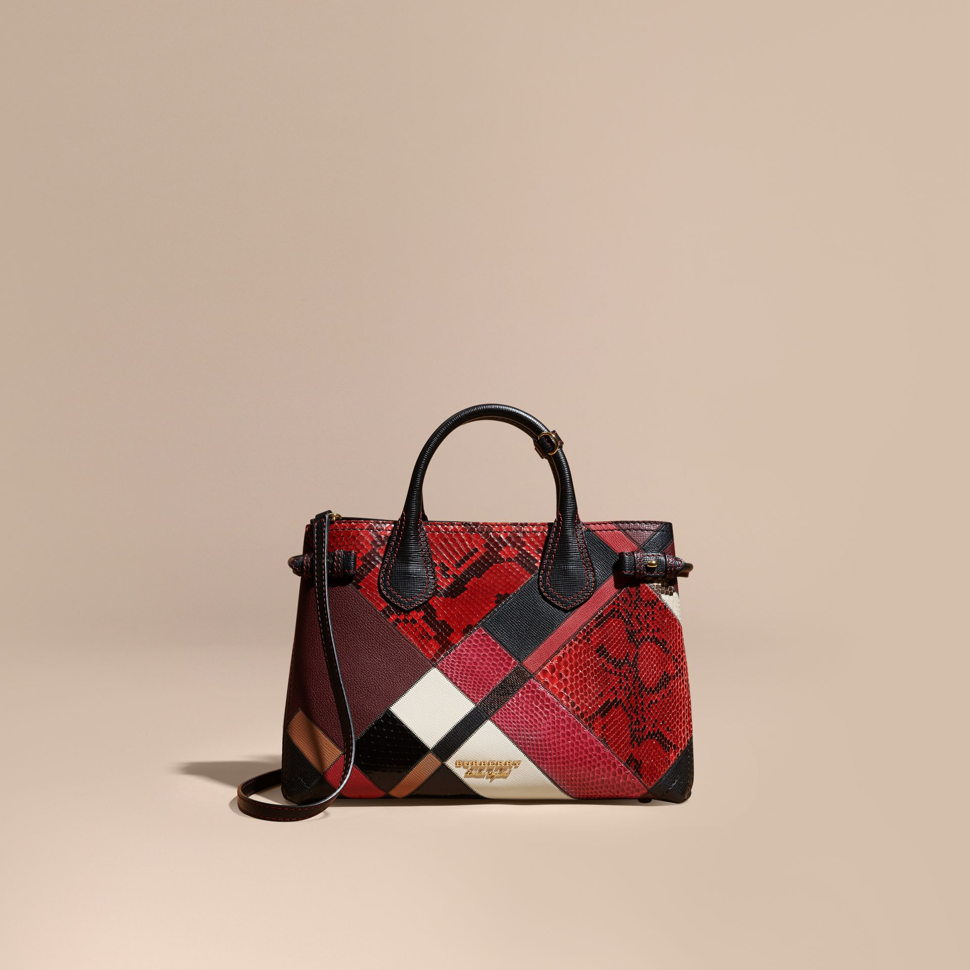 The Medium Banner in Patchwork Python and Leather - Women | Burberry - gallery image 9