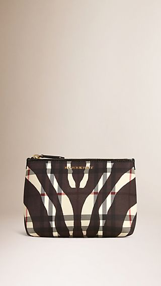 Medium Printed Horseferry Check Beauty Pouch