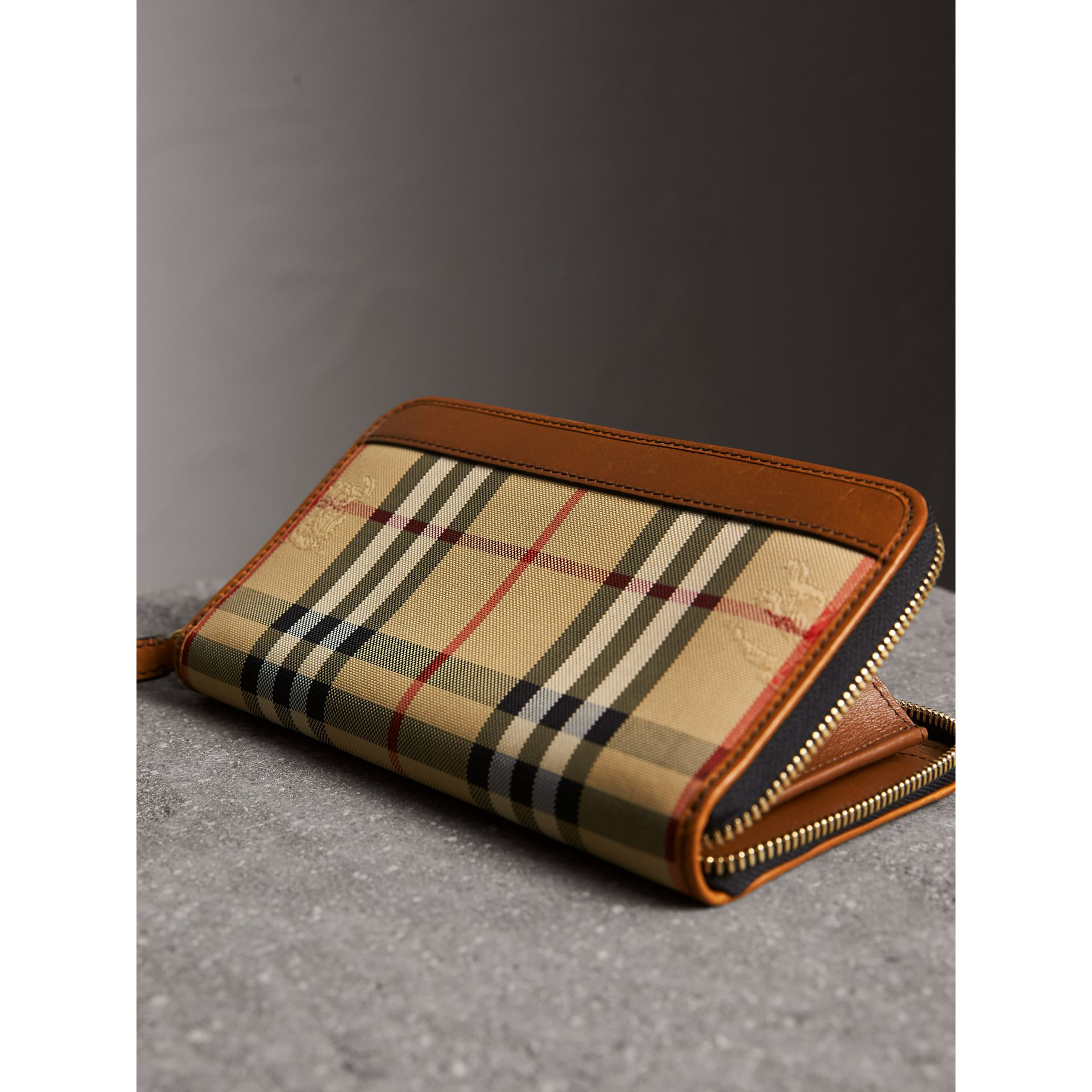 Horseferry Check Ziparound Wallet in Tan - Men | Burberry - gallery image 3