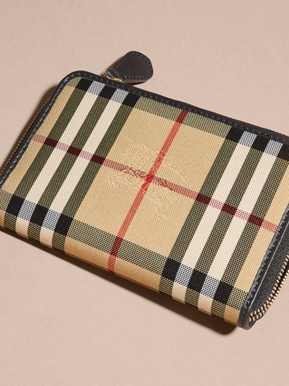 Medium Horseferry Check and Leather Ziparound Wallet - cell image 3