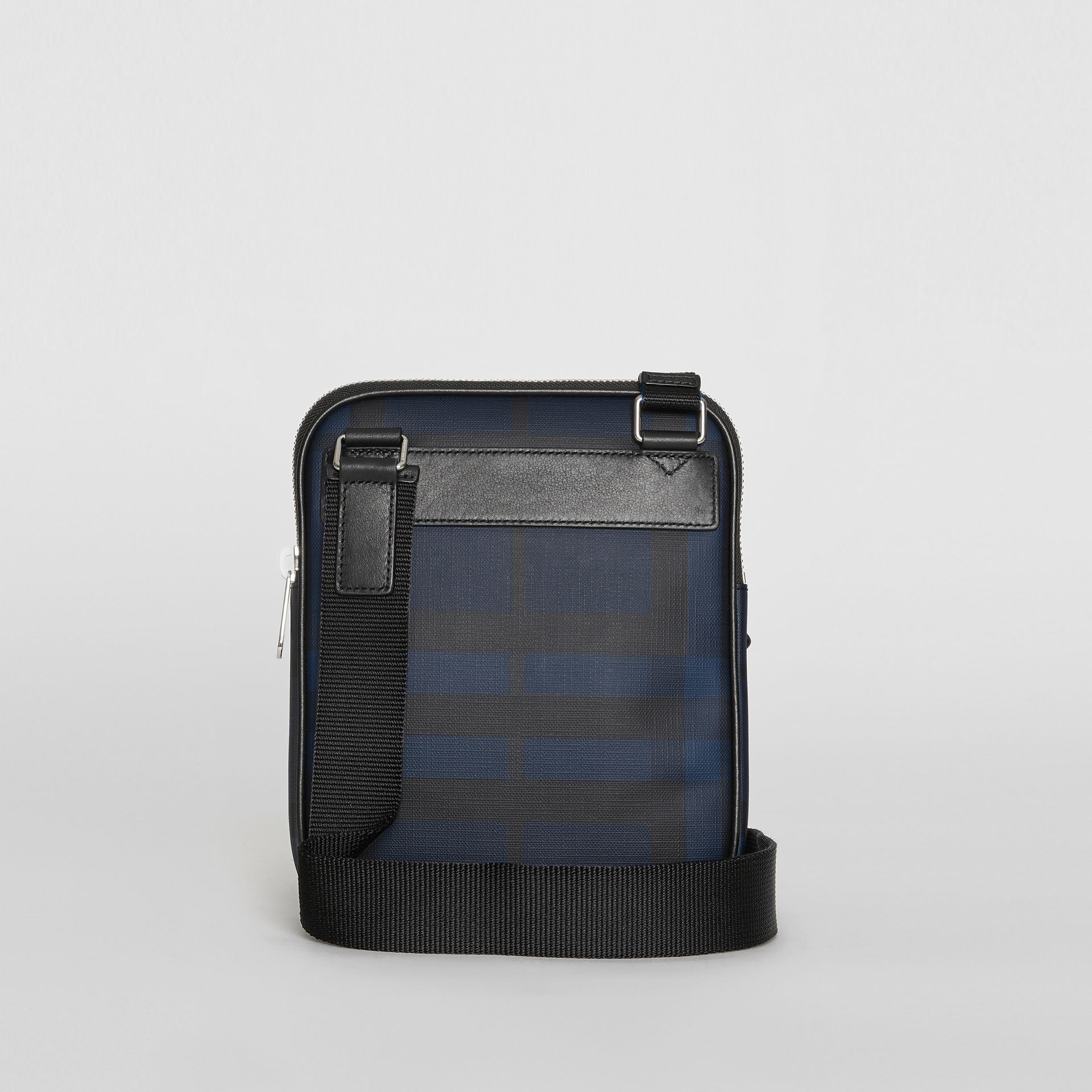 Slim London Check Crossbody Bag in Navy/black - Men | Burberry - gallery image 7