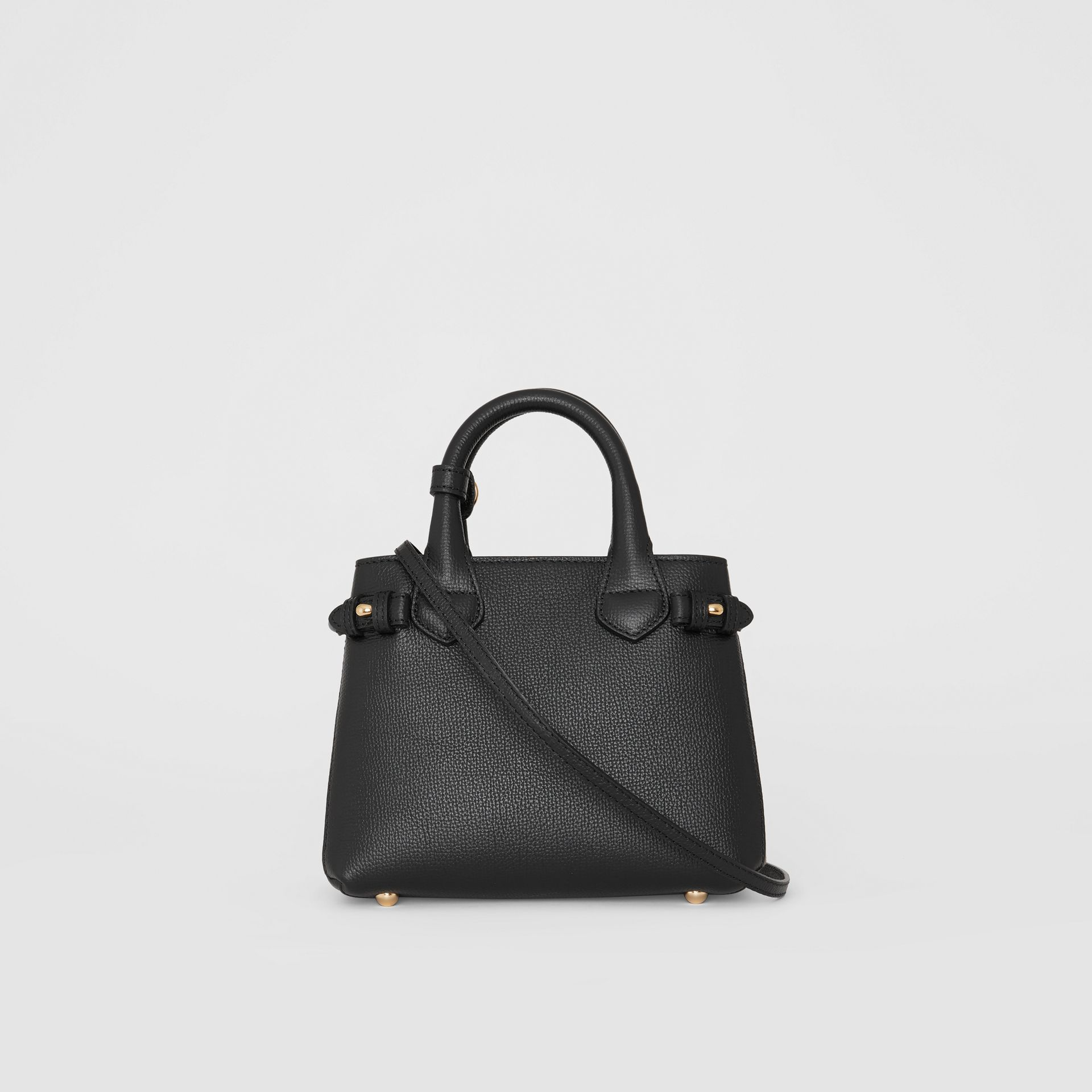 The Baby Banner in Leather and House Check in Black - Women | Burberry United Kingdom - gallery image 7