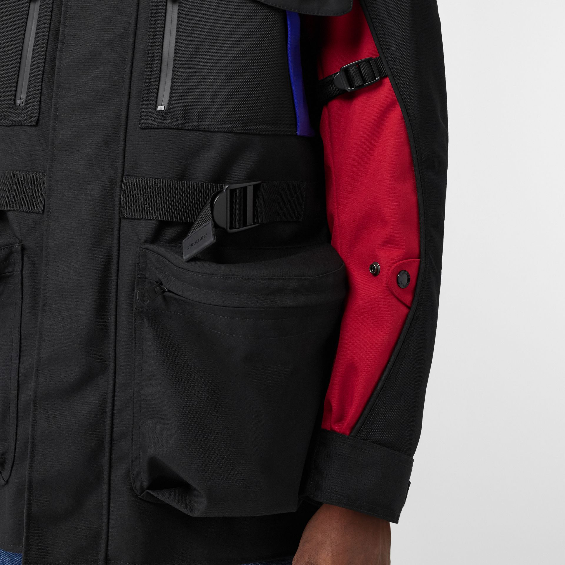 Нейлоновая куртка со съемной подкладкой в виде пуховой куртки (Черный) - Для мужчин | Burberry - изображение 8