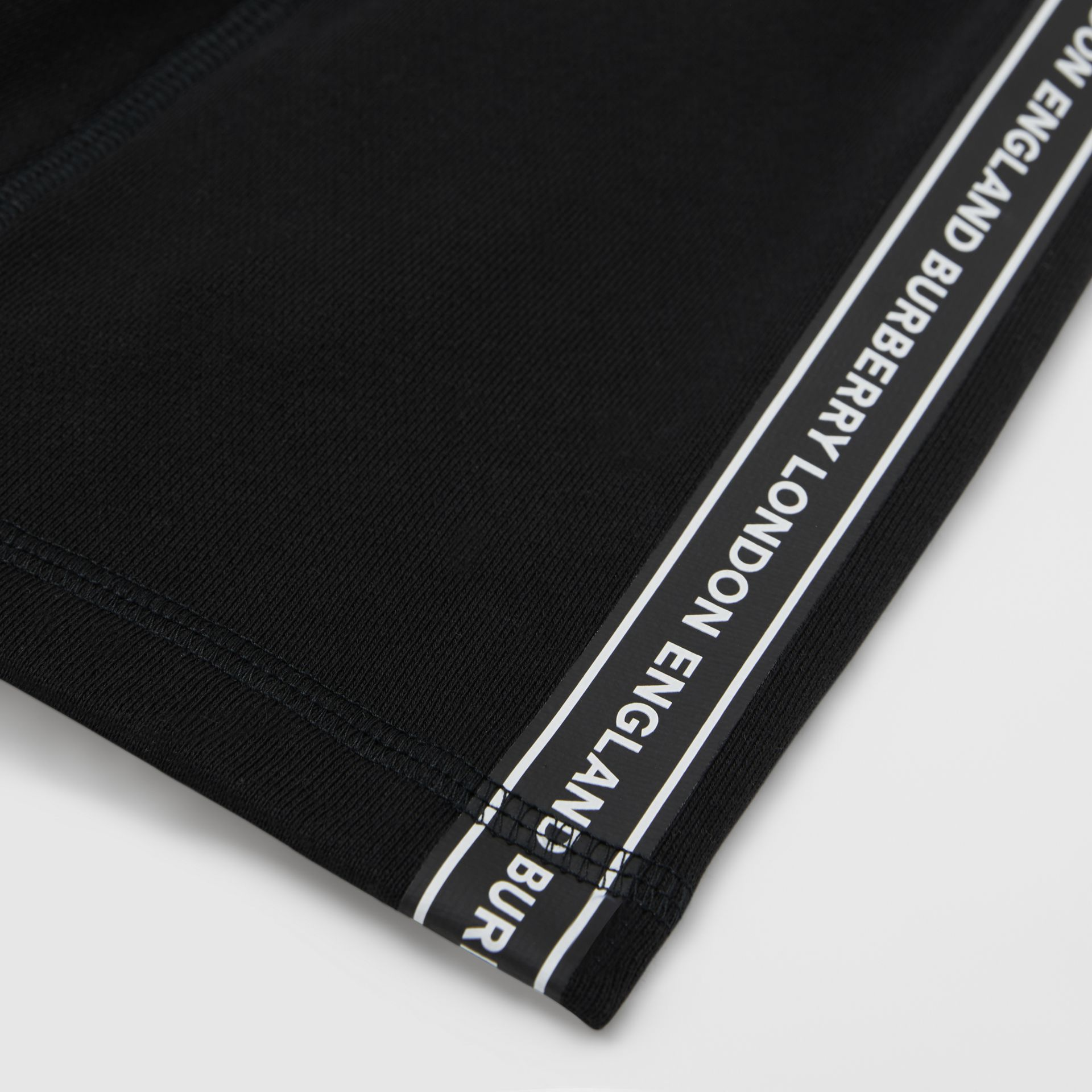 Logo Tape Cotton Drawcord Shorts in Black - Children | Burberry United States - gallery image 1