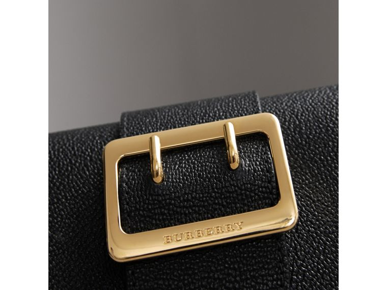 The Mini Buckle Bag in Grainy Leather in Black - Women | Burberry Canada - cell image 1