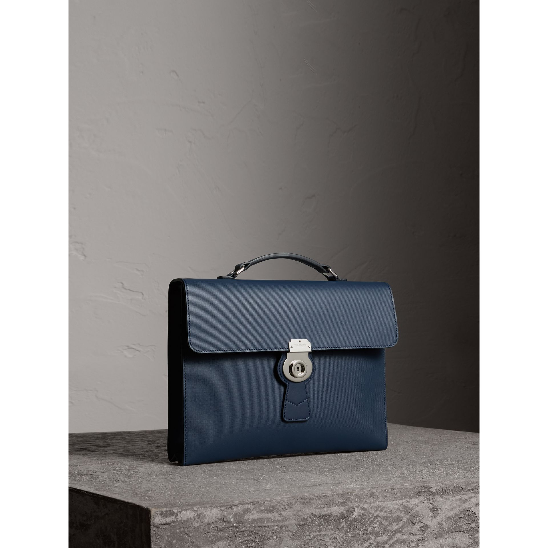 The Large DK88 Document Case in Ink Blue - Men | Burberry - gallery image 5