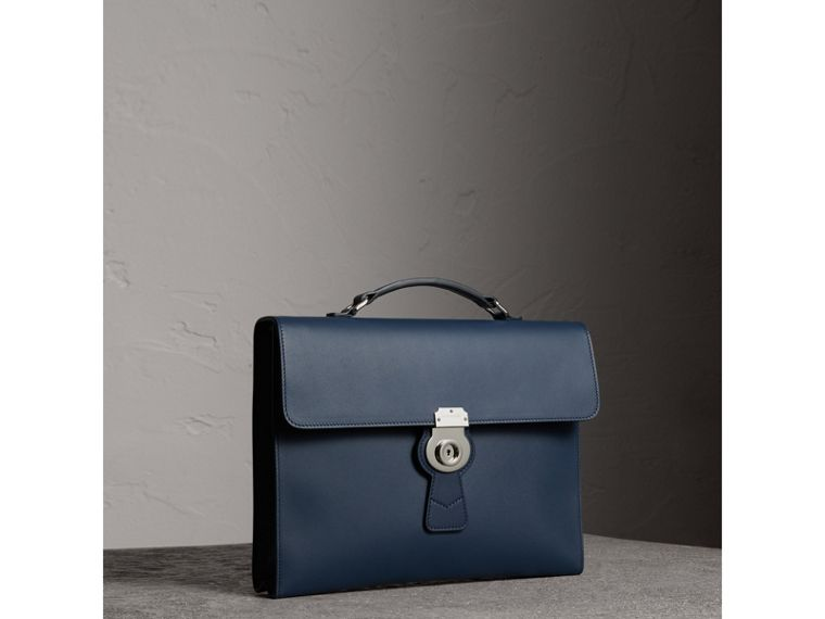 The Large DK88 Document Case in Ink Blue - Men | Burberry Australia - cell image 4