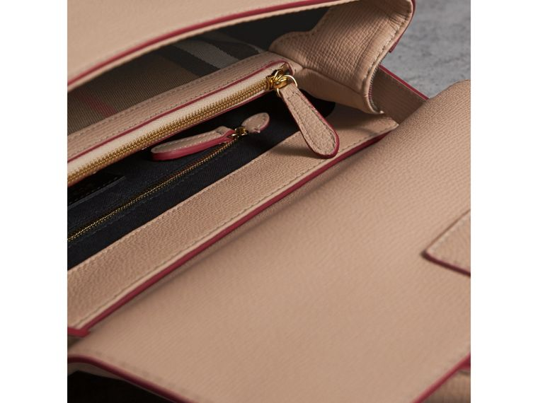 Medium Grainy Leather and House Check Tote Bag - Women | Burberry - cell image 4