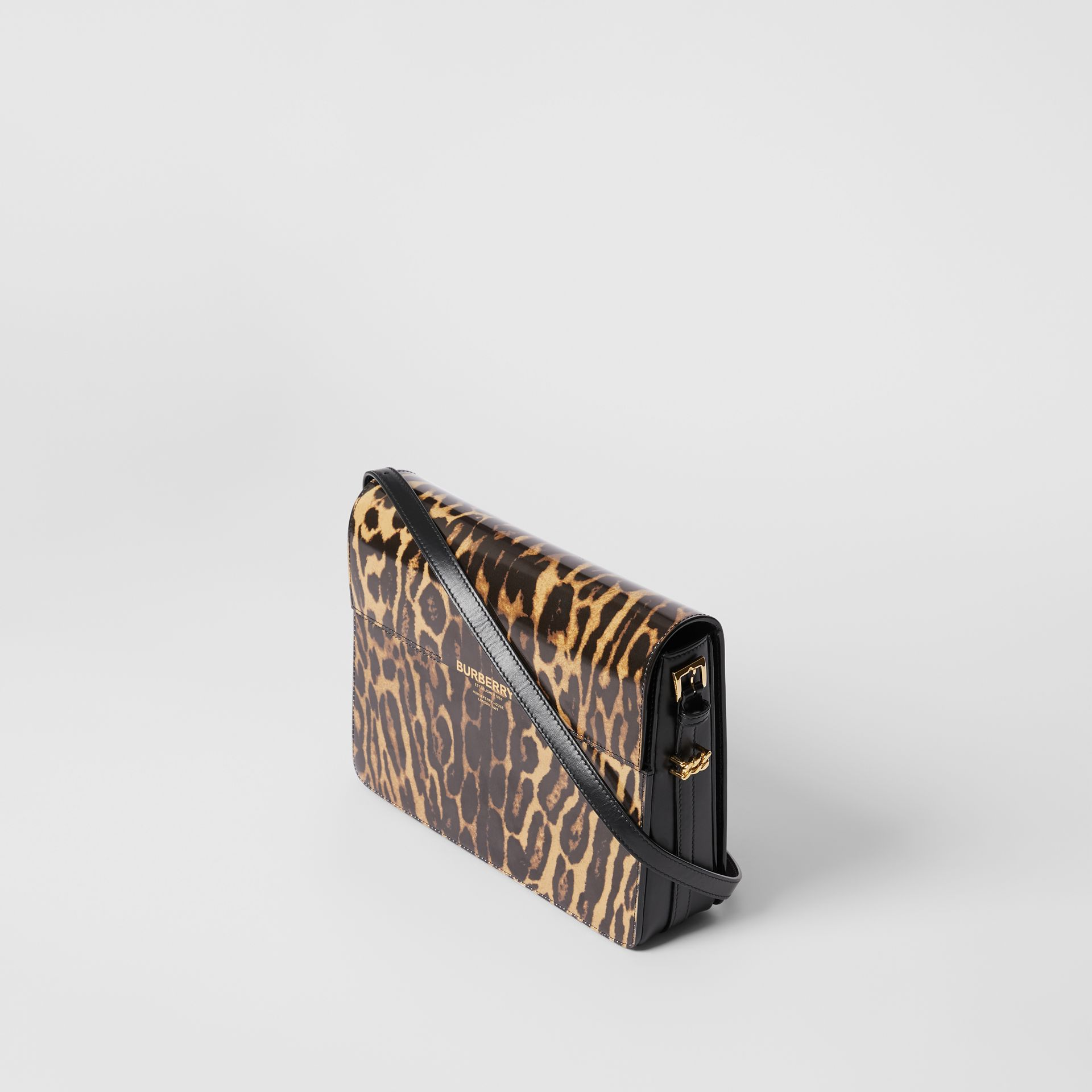 Large Leopard Print Leather Grace Bag in Dark Mustard - Women | Burberry Hong Kong S.A.R - gallery image 3
