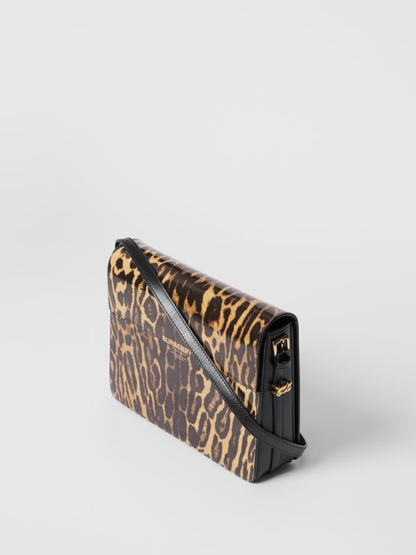 Large Leopard Print Leather Grace Bag in Dark Mustard - Women | Burberry Hong Kong S.A.R - cell image 3