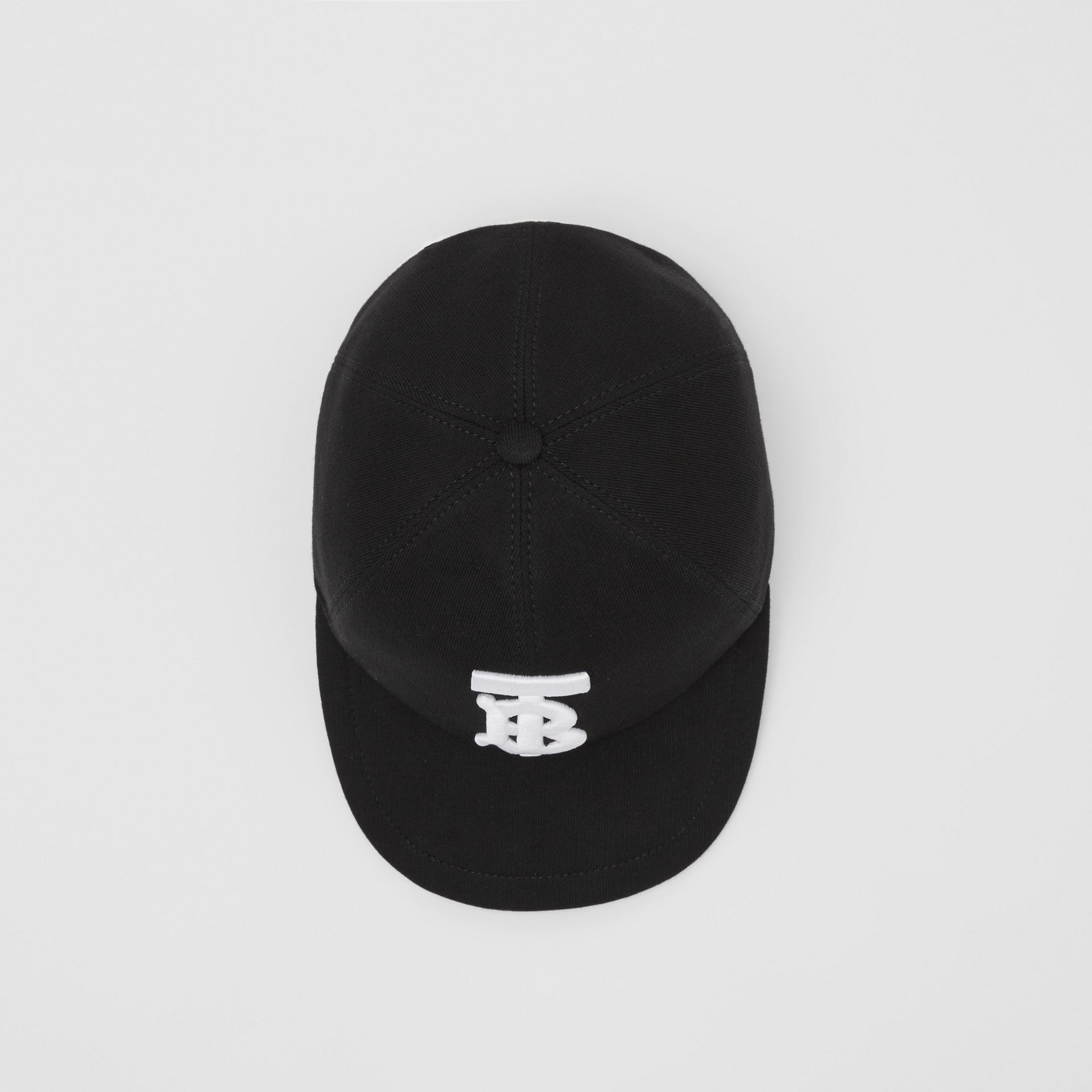 Monogram Motif Cotton Jersey Baseball Cap in Black | Burberry Hong Kong S.A.R - gallery image 3