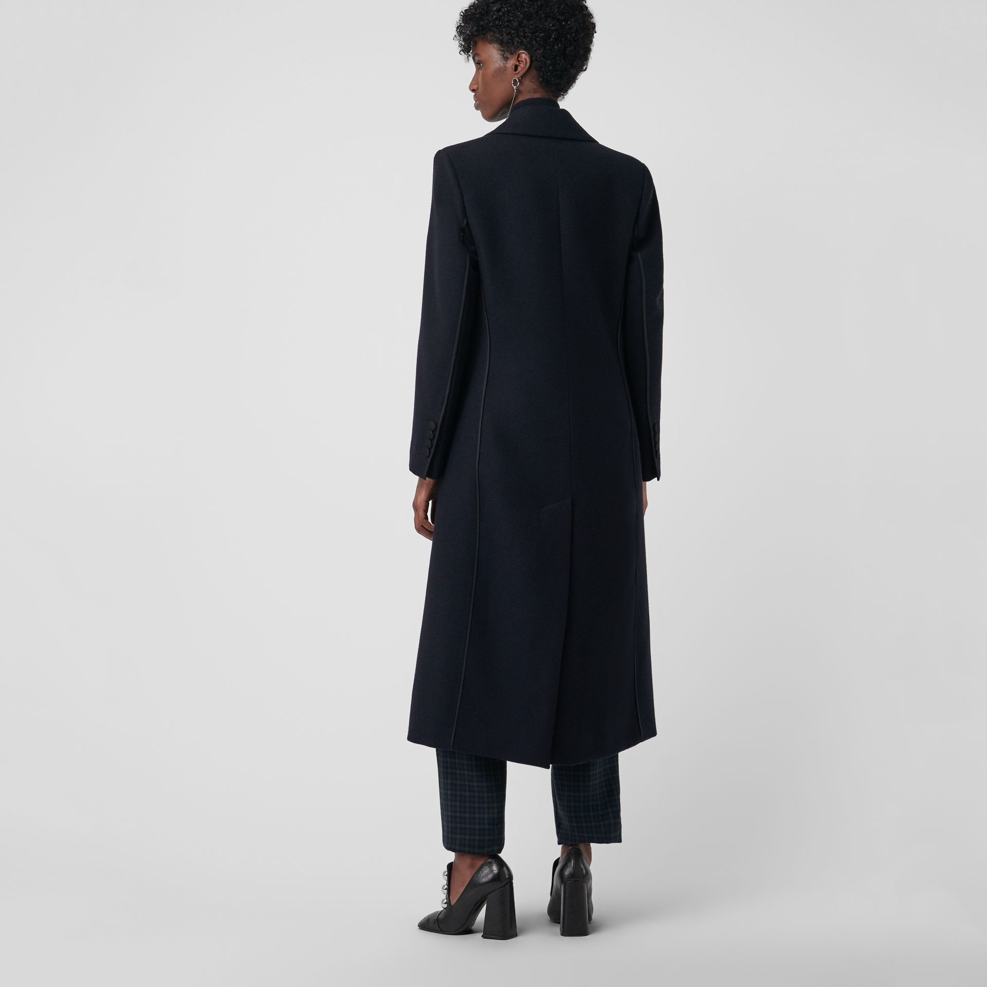 Cashmere Tailored Coat in Navy - Women | Burberry United Kingdom - gallery image 2