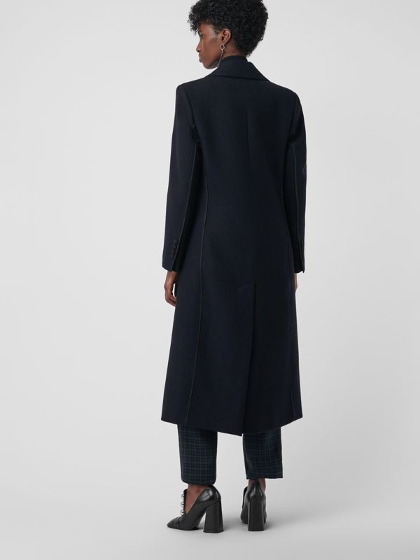 Cashmere Tailored Coat in Navy - Women | Burberry - cell image 2