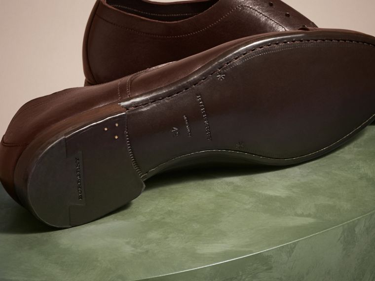 Ebony Washed Leather Derby Shoes - cell image 4