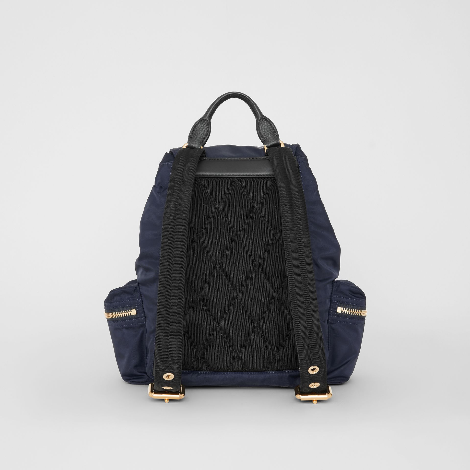 The Medium Rucksack in Technical Nylon and Leather in Ink Blue - Women | Burberry Canada - gallery image 11