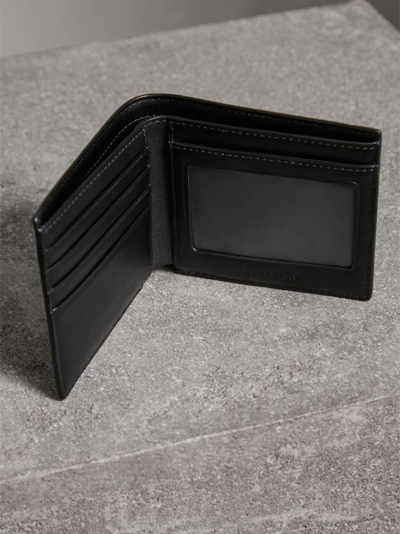 London Check ID Wallet in Navy/black - Men | Burberry United Kingdom - cell image 3