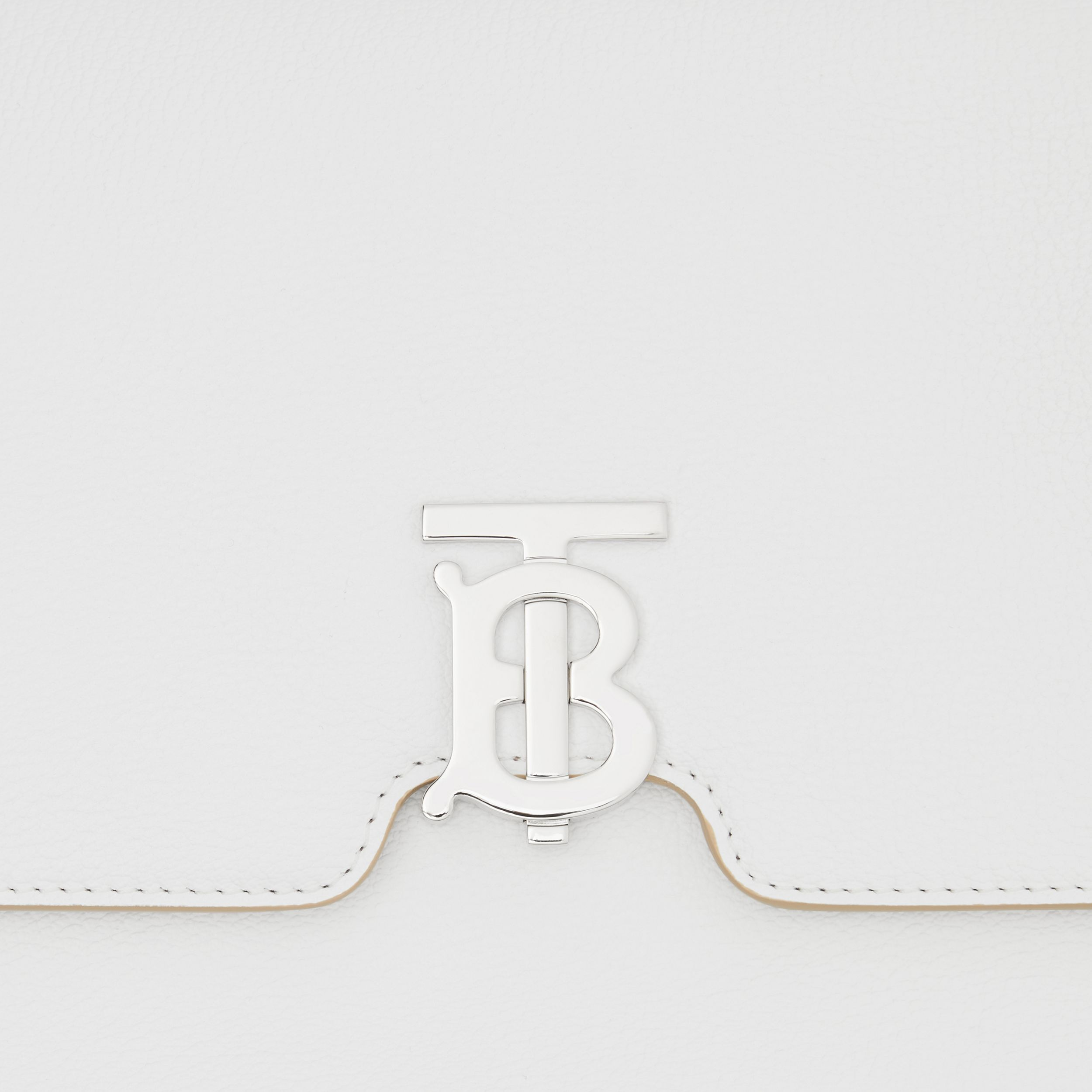 Medium Grainy Leather Alice Bag in Optic White - Women | Burberry - 2
