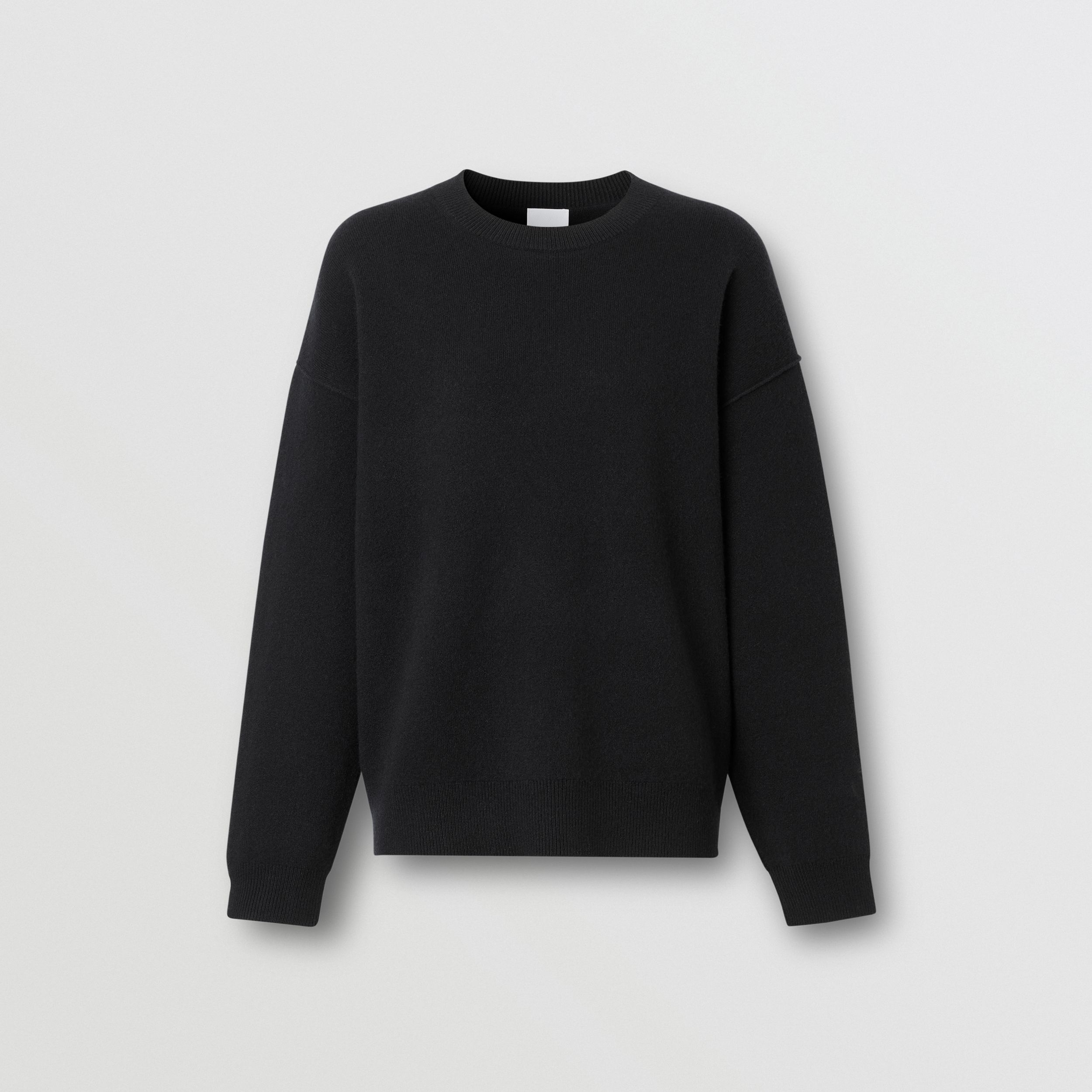 Monogram Motif Cashmere Blend Sweater in Black - Women | Burberry - 4