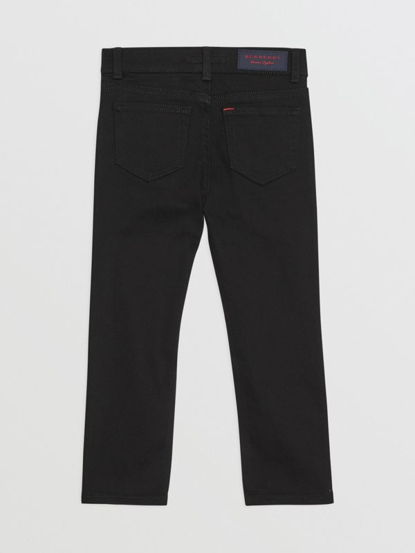Skinny Fit Stretch Denim Jeans in Black - Boy | Burberry - cell image 3
