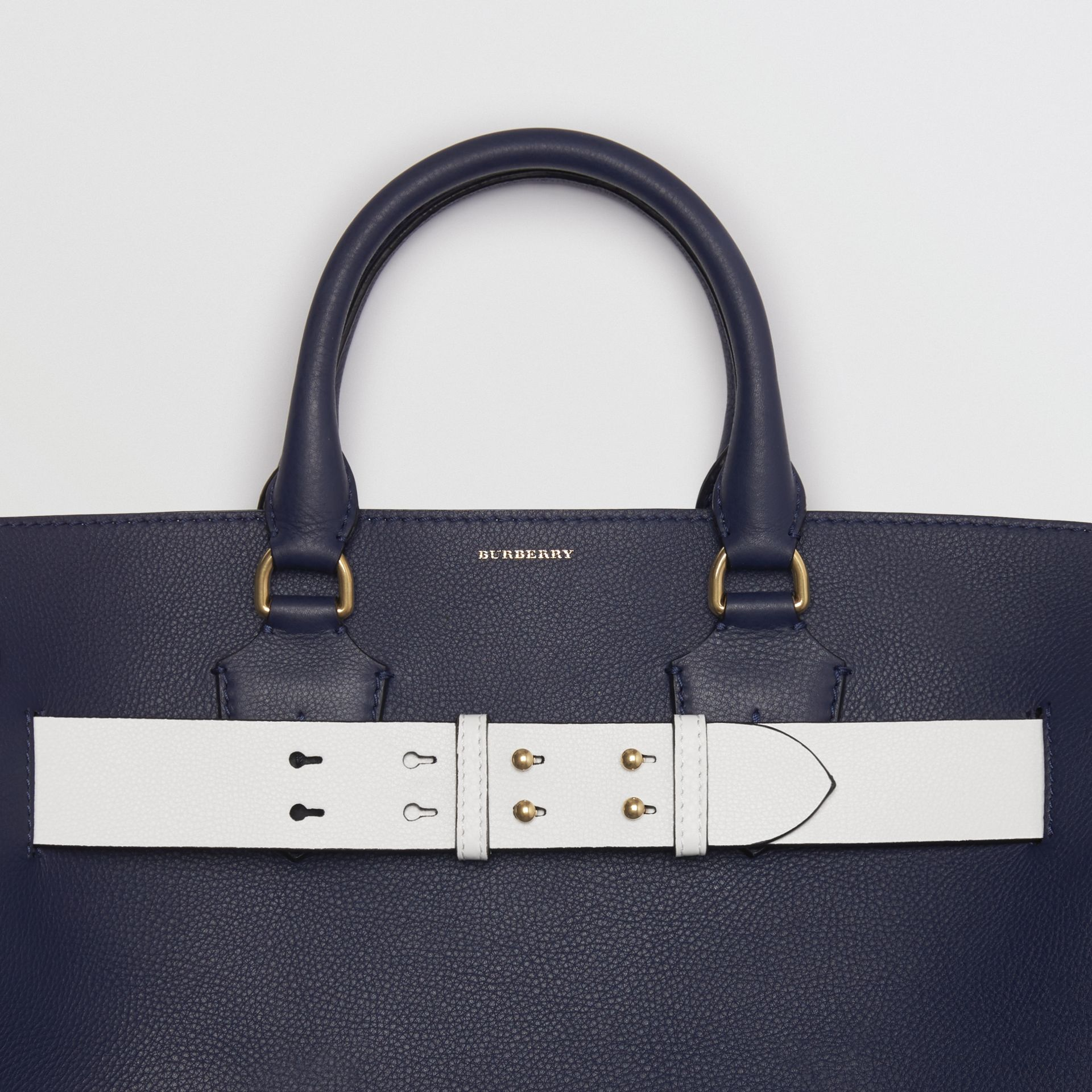 The Large Leather Belt Bag in Regency Blue | Burberry - gallery image 1