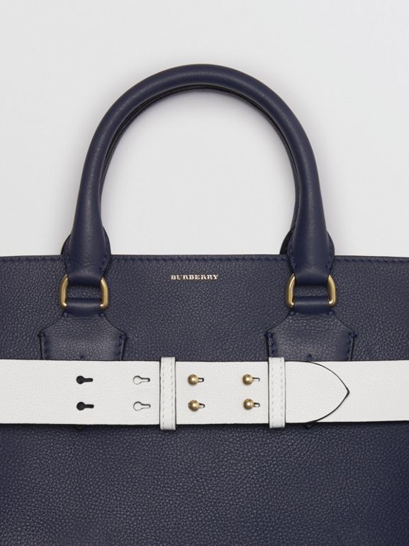 Borsa The Belt grande in pelle (Blu Reggenza) | Burberry - cell image 1