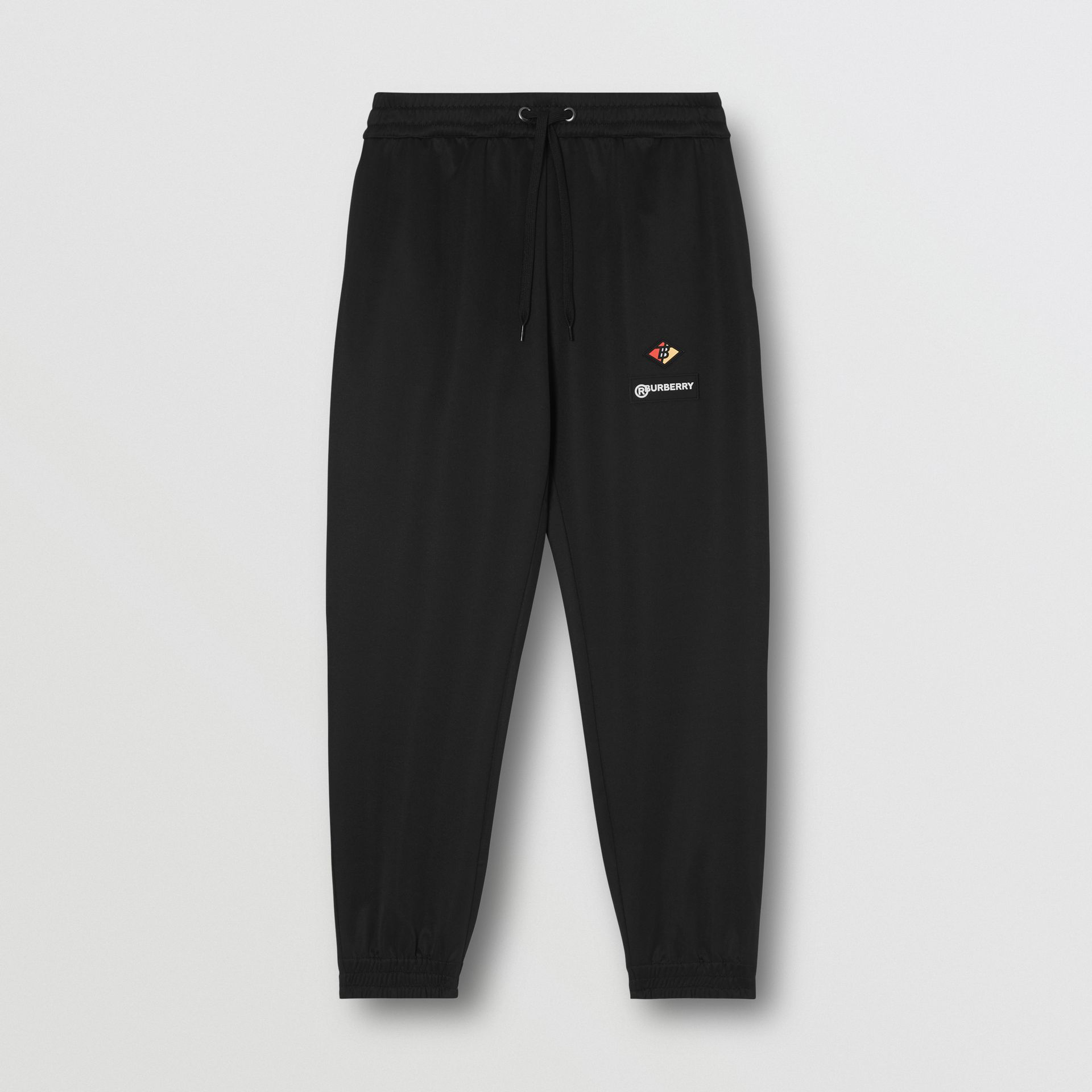 Logo Graphic Jersey Trackpants in Black - Men | Burberry Hong Kong S.A.R - gallery image 3