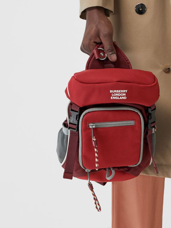 Logo Print Nylon Leo Belt Pack in Bright Red | Burberry Canada - cell image 2