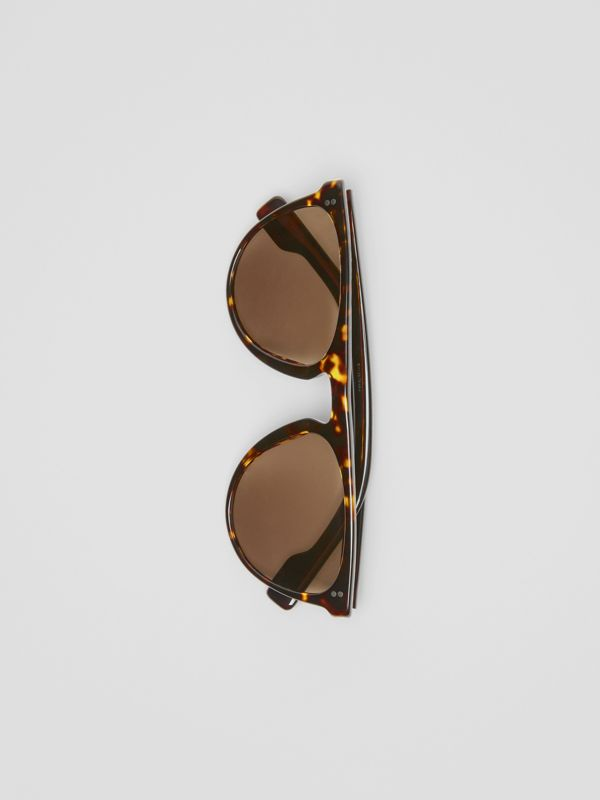 Keyhole D-shaped Sunglasses in Tortoise Shell - Men | Burberry United States - cell image 3