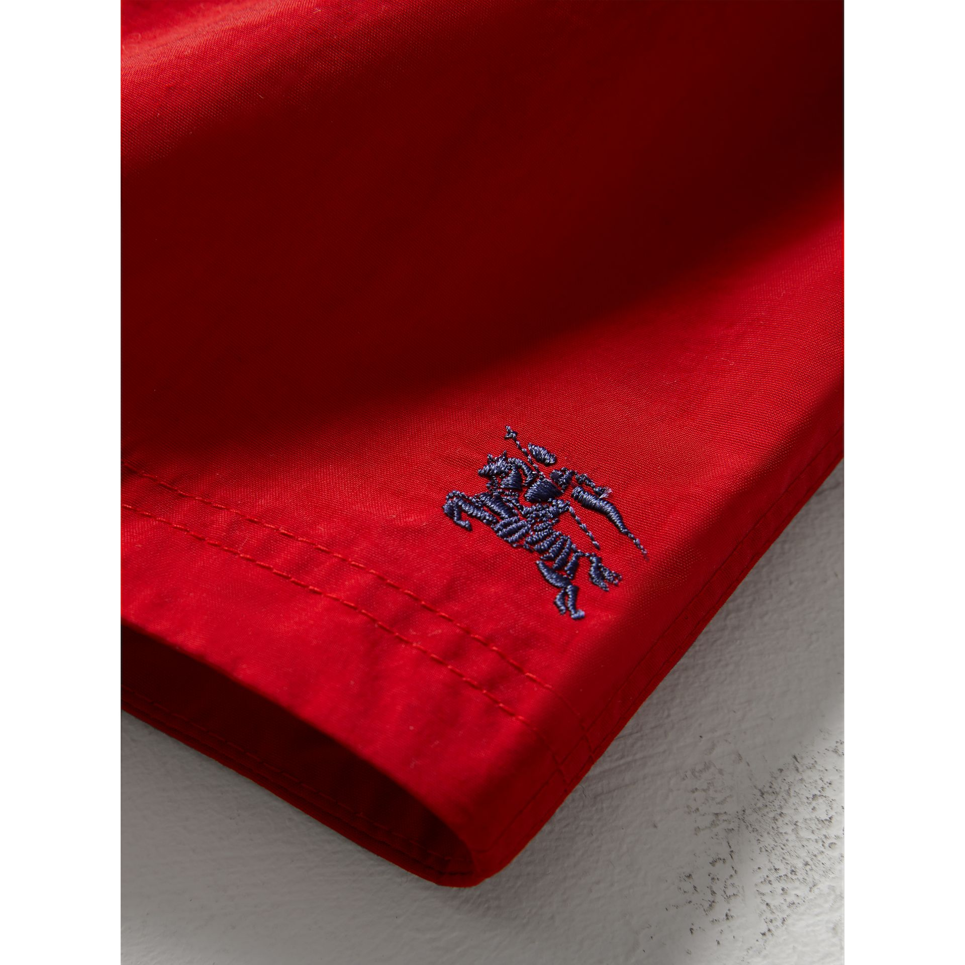 Quick-dry Swim Shorts in Military Red | Burberry - gallery image 1