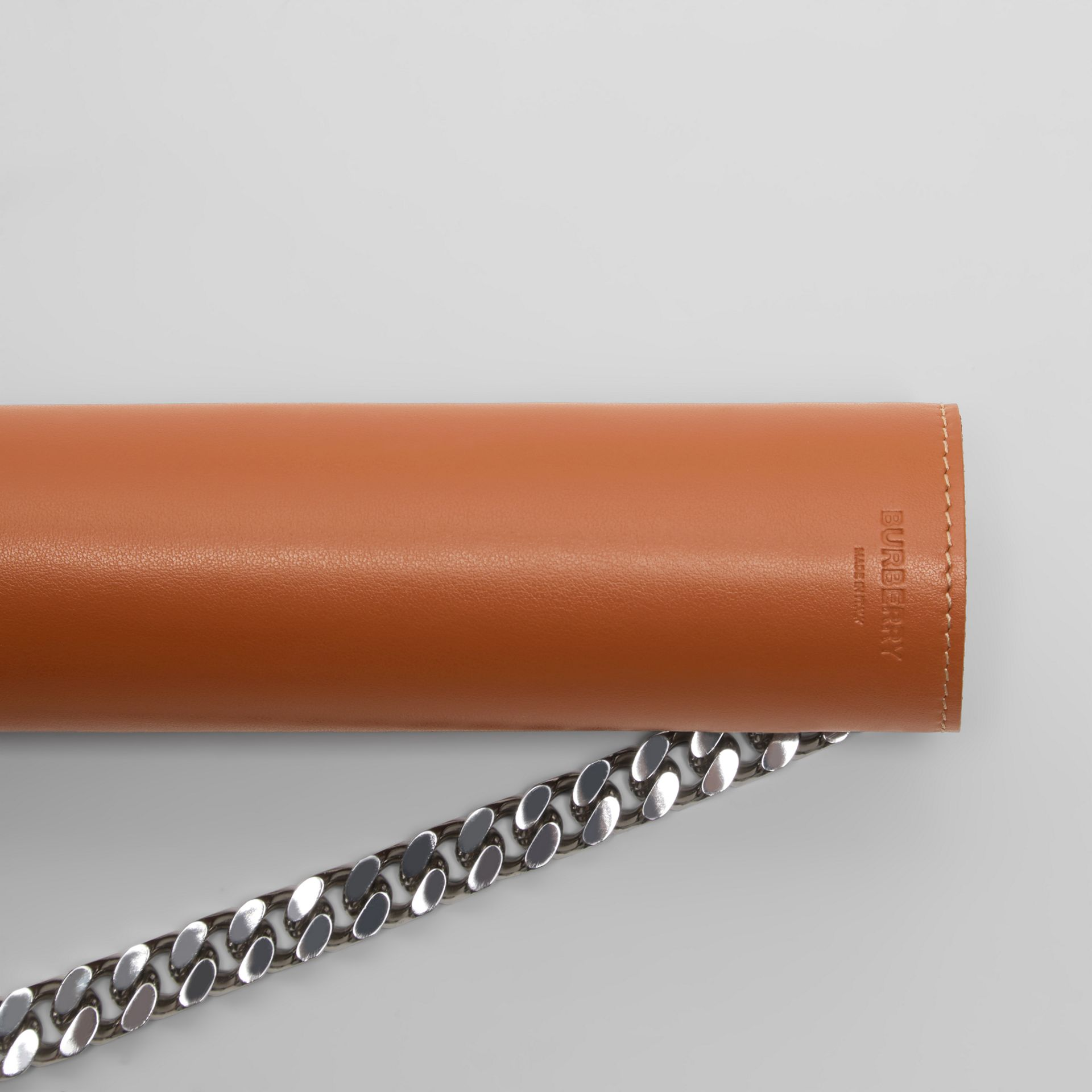 Leather Umbrella Holster with Chain Strap in Tan | Burberry Singapore - gallery image 2