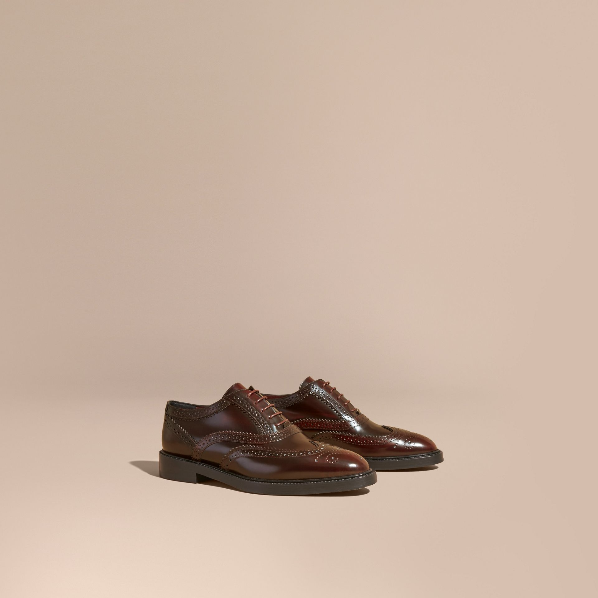 Bordeaux Leather Wingtip Brogues - gallery image 1
