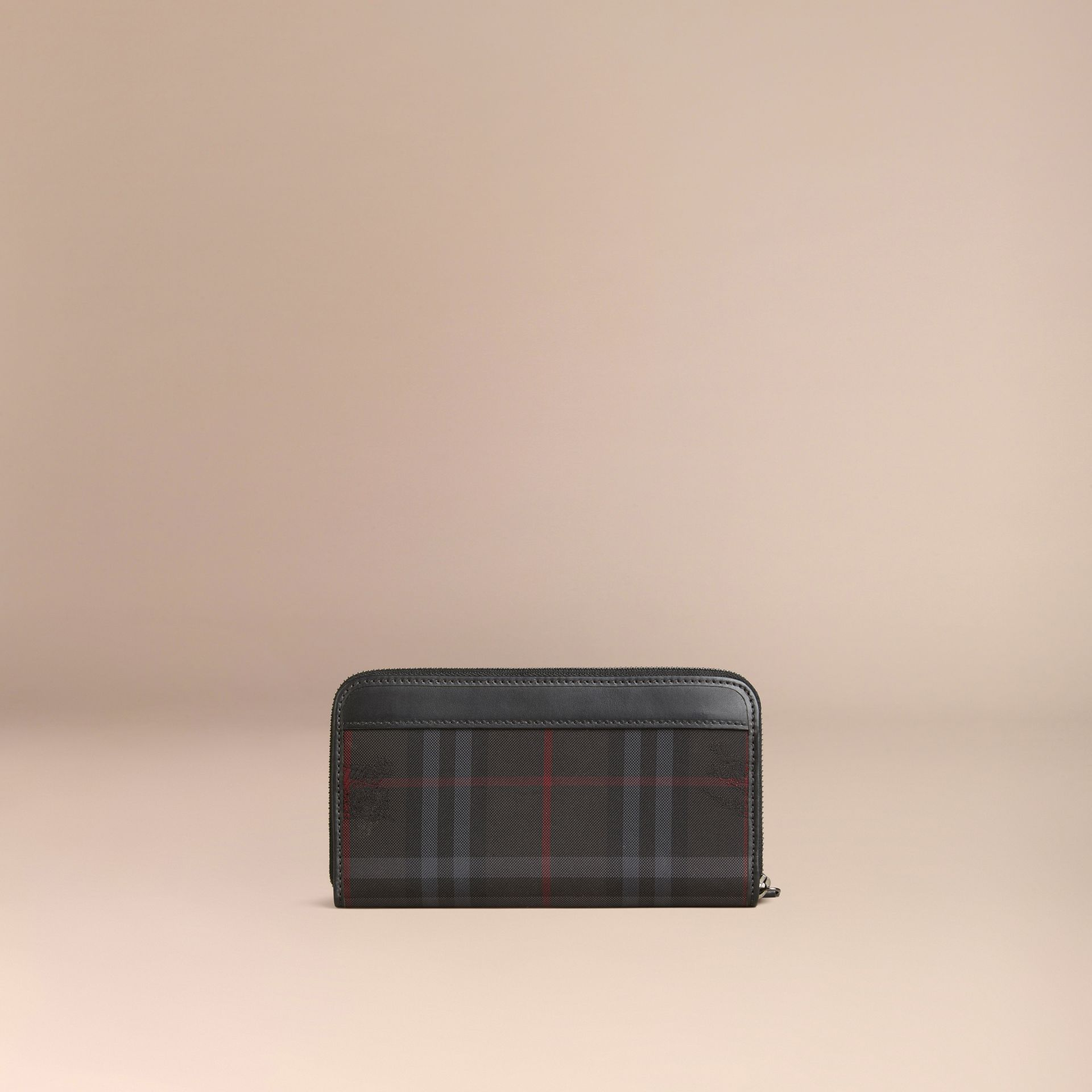 Charcoal/black Horseferry Check Ziparound Wallet Charcoal/black - gallery image 3