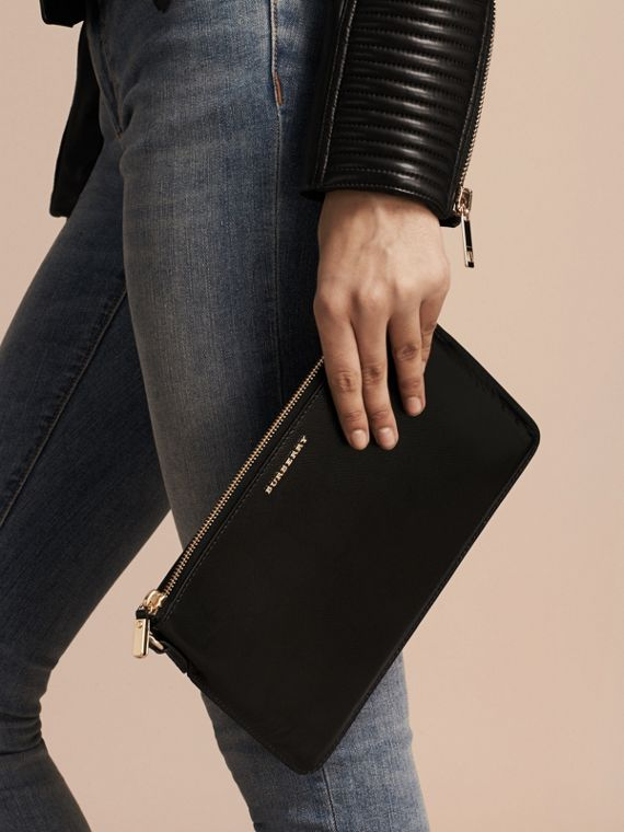 Patent London Leather Clutch Bag in Black - cell image 3