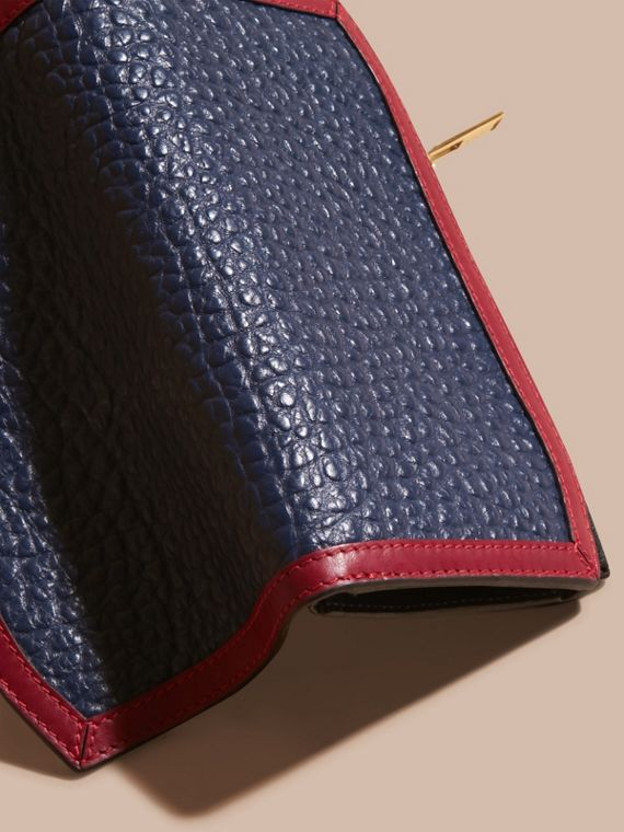 Blue carbon/parade red Border Detail Signature Grain Leather Ziparound Wallet - cell image 3