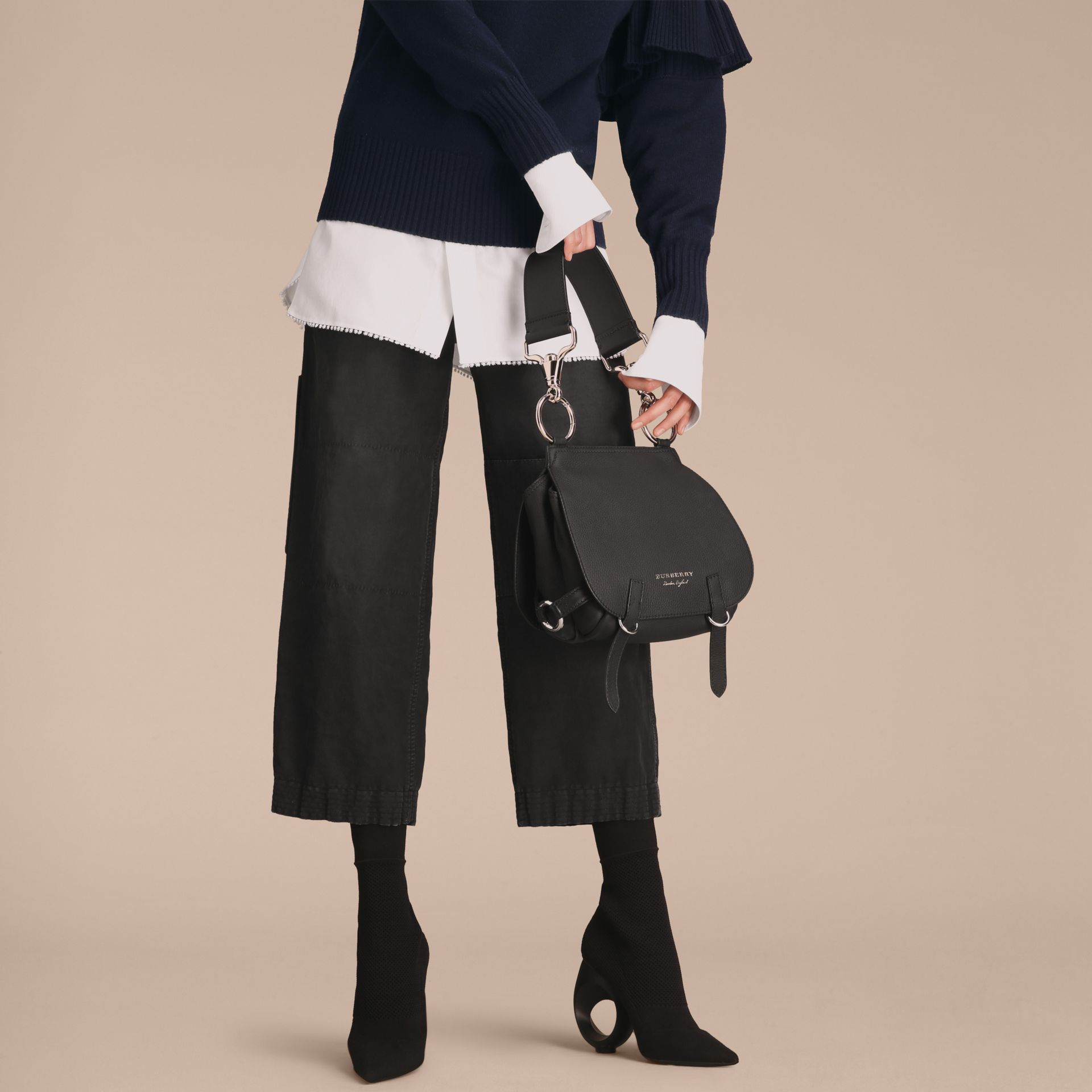 The Bridle Bag in Deerskin in Black - Women | Burberry United Kingdom - gallery image 3
