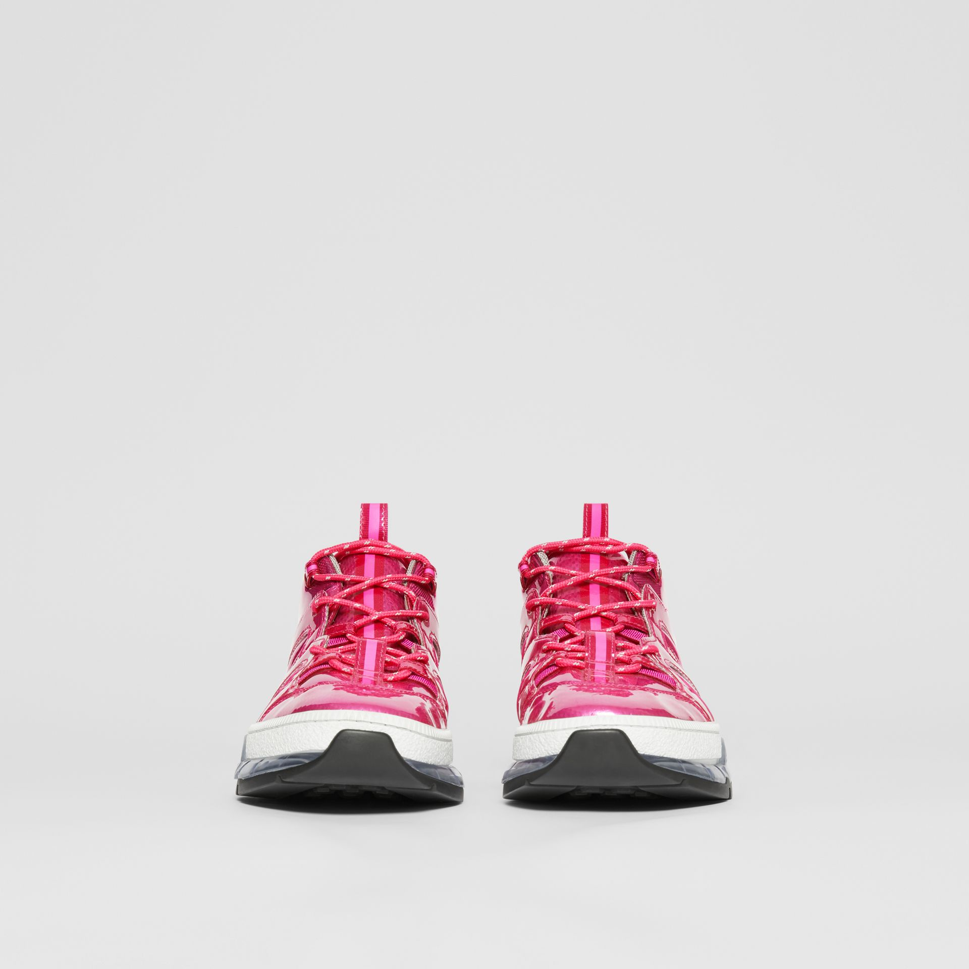 Sneakers Union en vinyle et nylon (Fuchsia) - Homme | Burberry - photo de la galerie 2