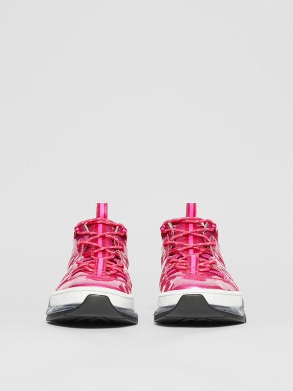 Zapatillas deportivas Union en vinilo y nailon (Fucsia) - Hombre   Burberry - cell image 2