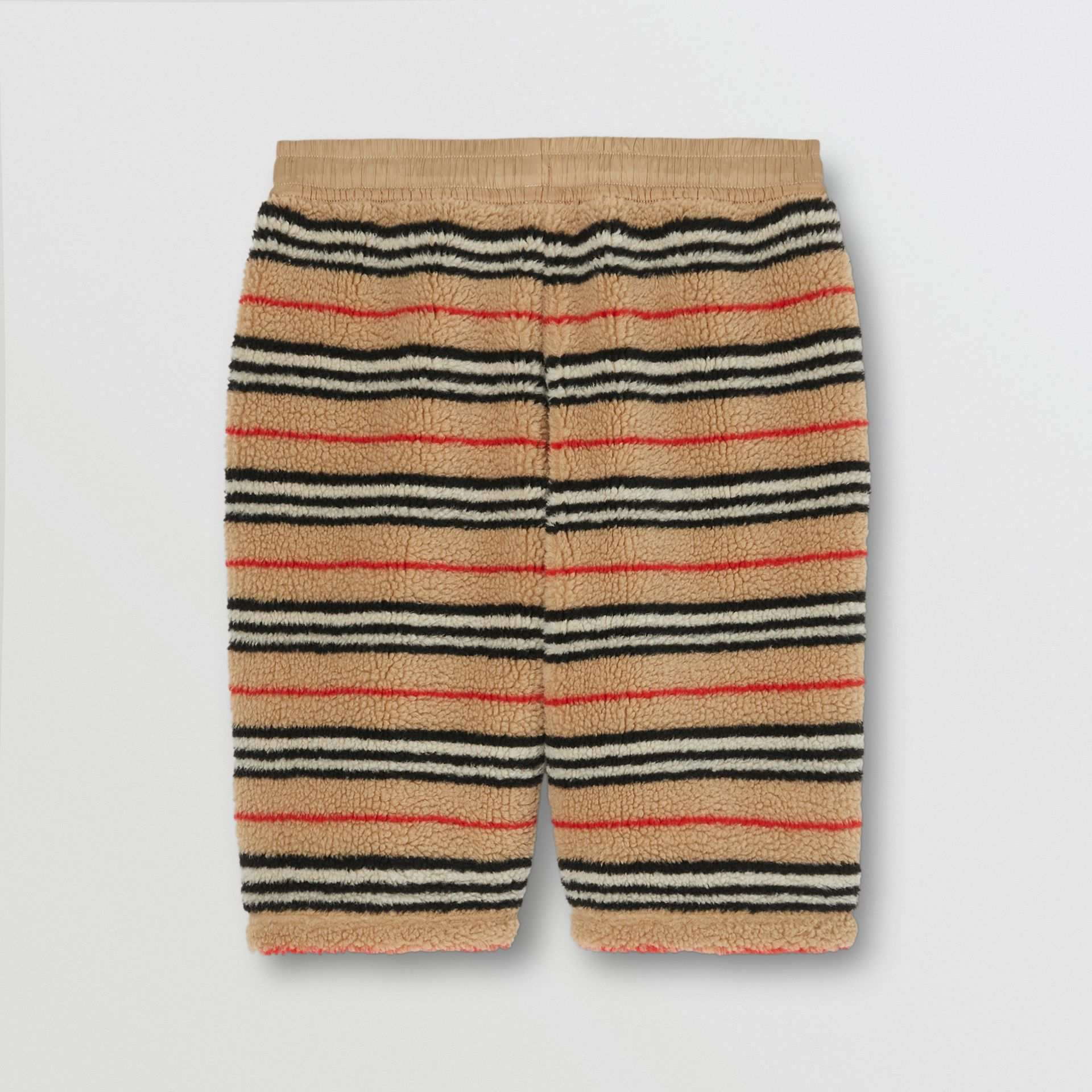 Icon Stripe Fleece Drawcord Shorts in Archive Beige - Men | Burberry - gallery image 5