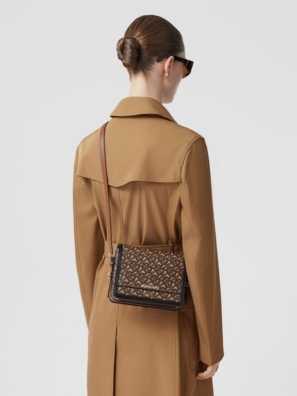 Small Monogram Print E-canvas Grace Bag in Bridle Brown - Women | Burberry - cell image 2