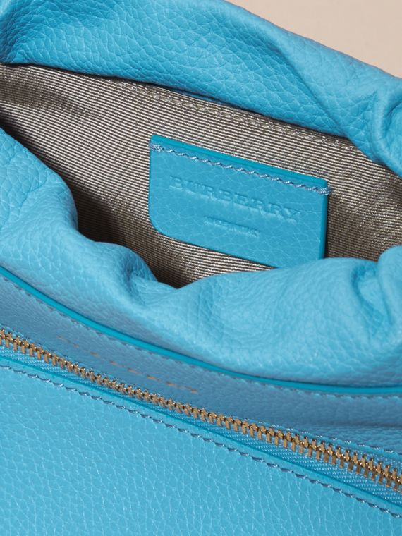Bright mineral blue The Mini Crush in Grainy Leather Bright Mineral Blue - cell image 3