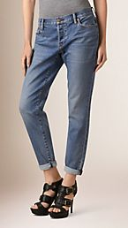 Relaxed Fit Stretch Indigo Jeans