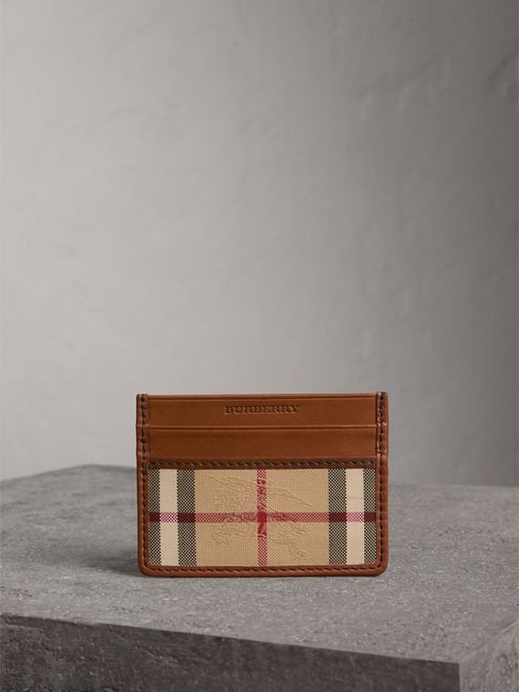 Horseferry Check Card Case in Tan - Men | Burberry - cell image 3