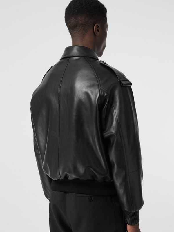 Lambskin Bomber Jacket in Black - Men | Burberry Singapore - cell image 2
